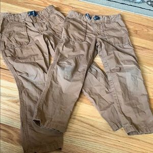 Carters size 6 and 7  clay colored pants